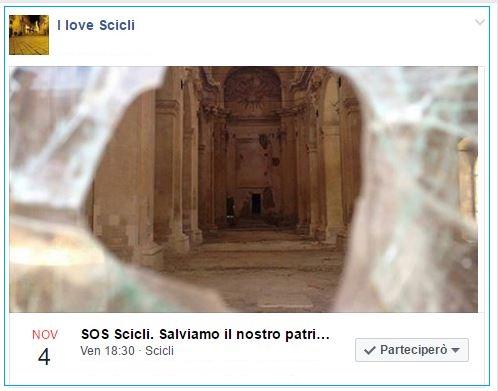 SOS Scicli evento fb