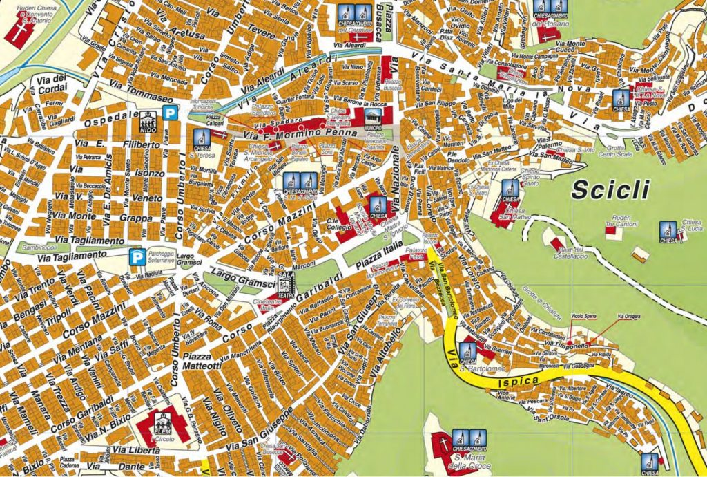 mappa scicli