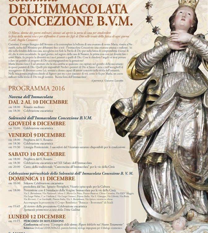 Scicli, festa dell'Immacolata di S.Bartolomeo S.M.La Nova