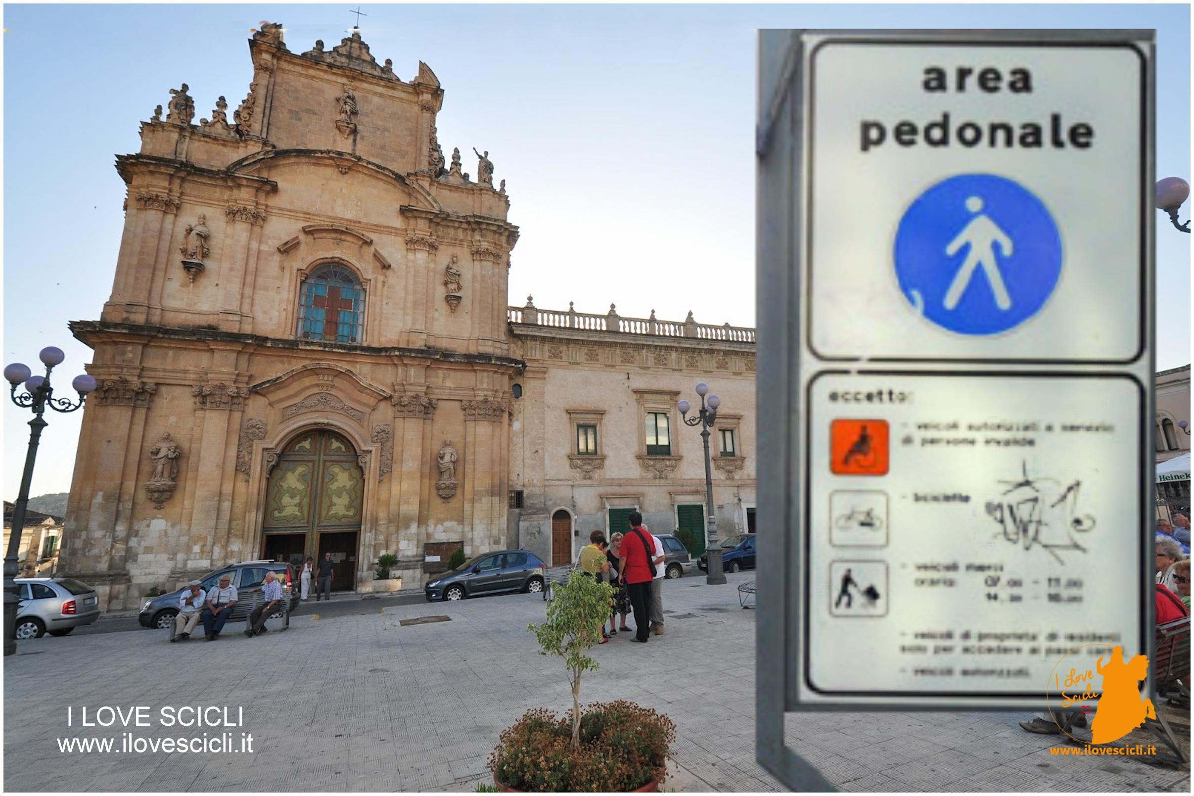 mappa pedonale Scicli