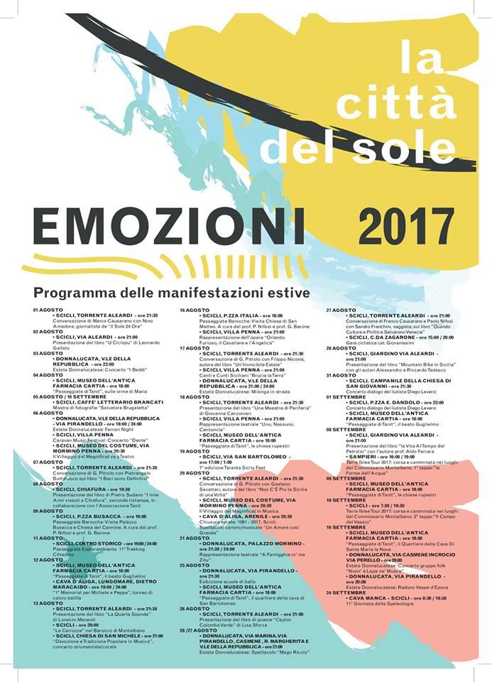Estate 2017 Scicli programma eventi