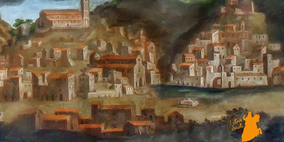 Panorama di Scicli prima del terremoto del 1693