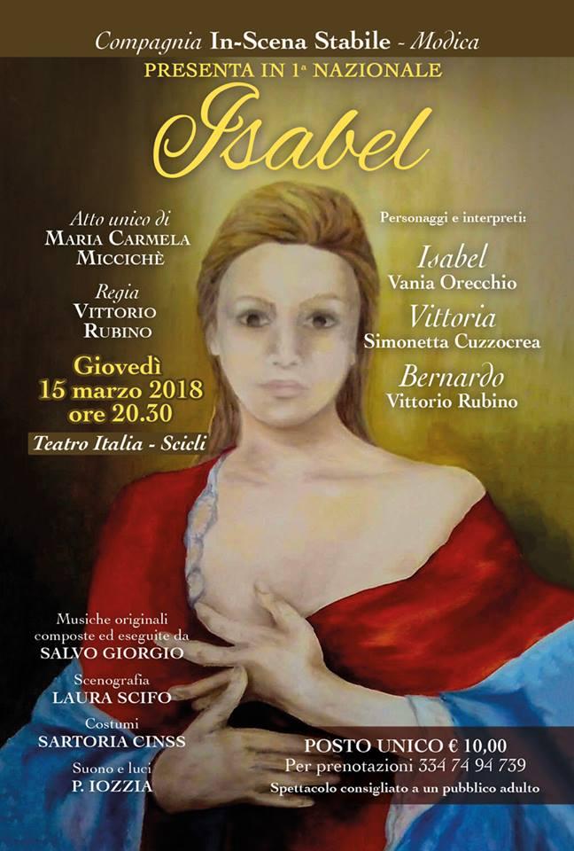 Isabel un atto unico di Maria Carmela Miccichè.