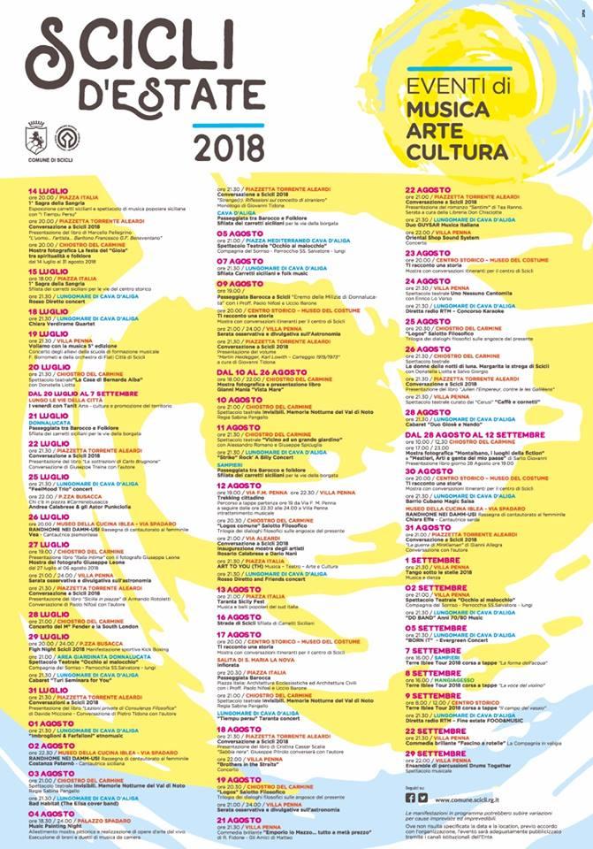 programma eventi estate 2018