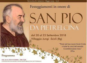 Scicli festa per Padre Pio da Pietralcina