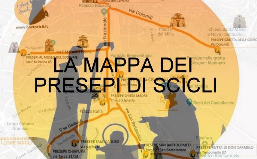 Mappa presepe Scicli