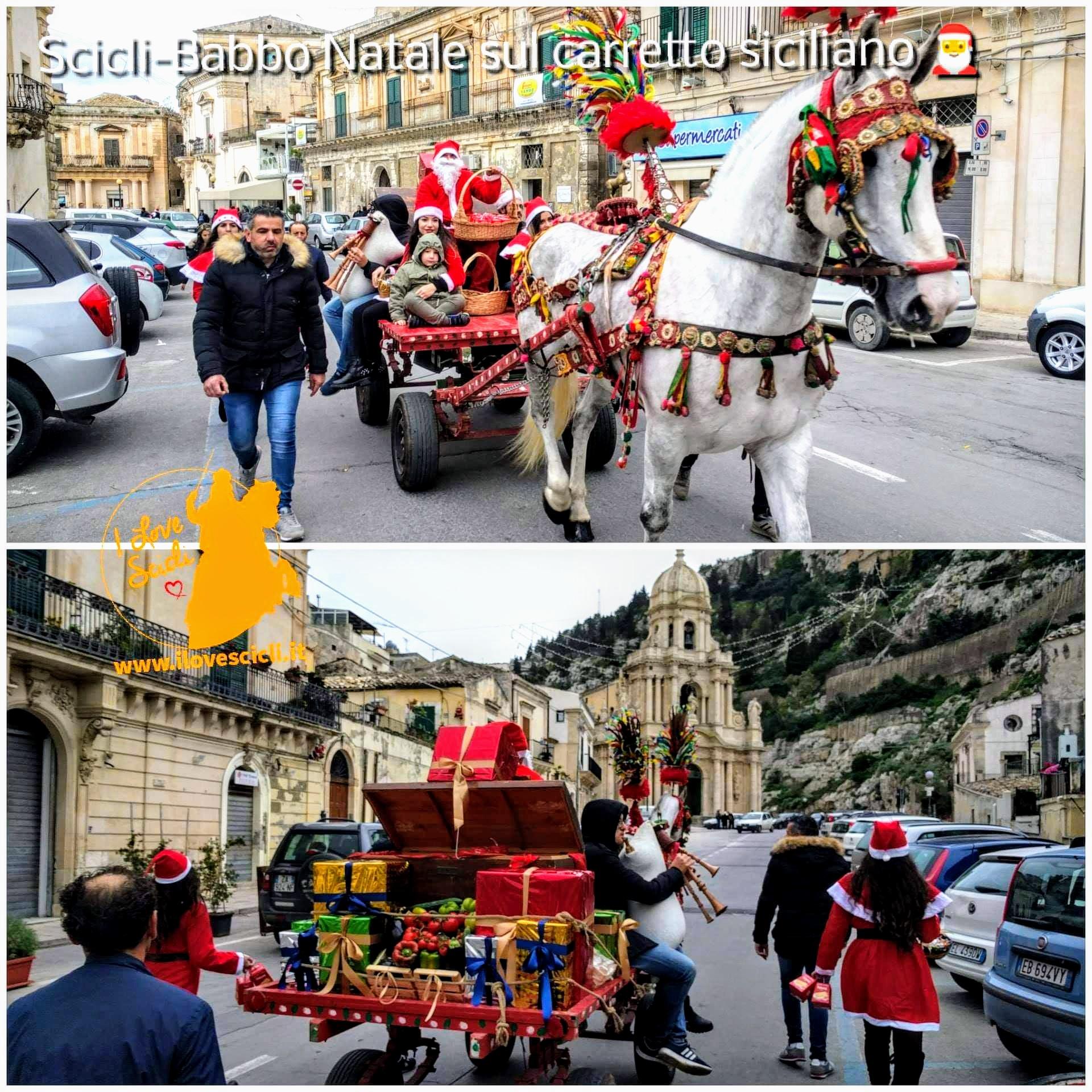 Carretto siciliano di natale a Scicli